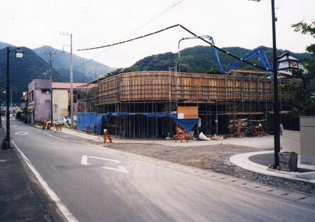 建築中の新社屋